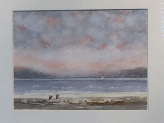 La plage de Trouville d'après une oeuvre de Courbet - 1er prix copie 2018. À la manière de Courbet.